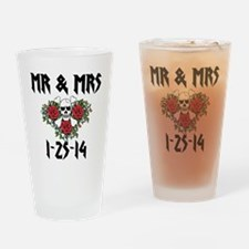 Mr Mrs Personalized dates Drinking Glass