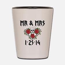 Mr Mrs Personalized dates Shot Glass