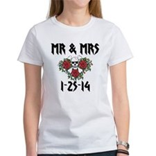 Mr Mrs Personalized Dates T-Shirt