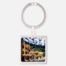Deadwood, South Dakota Square Keychain