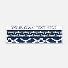 Custom Text Pattern Background Car Magnet 10 x 3