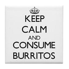 Keep calm and consume Burritos Tile Coaster