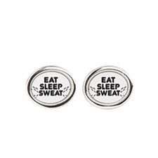 eat sleep sweat Cufflinks