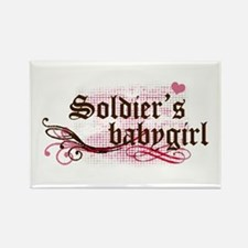 Soldier's Babygirl Rectangle Magnet
