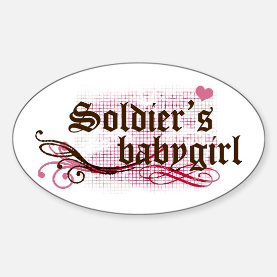 Soldier's Babygirl Oval Decal