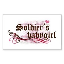 Soldier's Babygirl Rectangle Decal