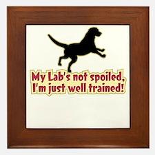 Spoiled Lab? - Framed Tile