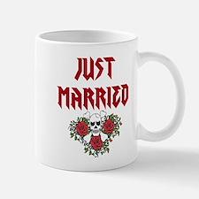 Just Married Skull Mugs