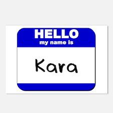 hello my name is kara  Postcards (Package of 8)