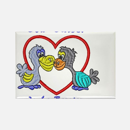 romantic dodo Rectangle Magnet