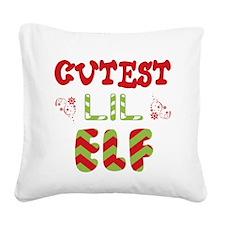 Cutest Lil Elf Square Canvas Pillow
