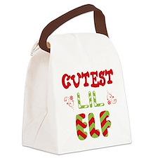 Cutest Lil Elf Canvas Lunch Bag