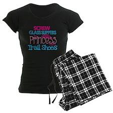 Princess wears Trail Shoes Pajamas