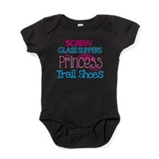 Princess wears Trail Shoes Baby Bodysuit