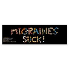 Migraines Suck! Bumper Car Sticker