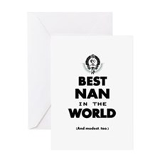 The Best in the World Best Nan Greeting Cards