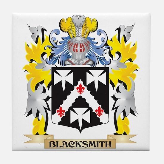 Blacksmith Coat of Arms - Family Cres Tile Coaster