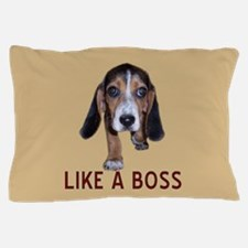 Beagle Puppy Like A Boss Pillow Case