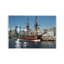 Old Ship in Darling Harbour Sydne Rectangle Magnet
