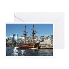 Old Ship in Darling Harbour Sydney Greeting Card