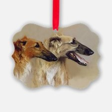 Borzoi Profiles Ornament