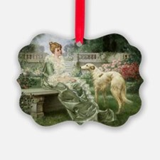 Garden Borzoi Ornament