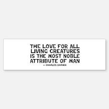 quote_darwin_man_white Bumper Bumper Bumper Sticker