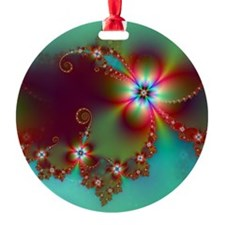 Fractal poppies floral3 Ornament