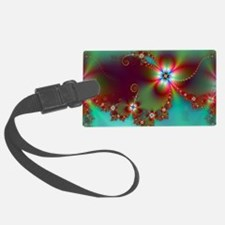 Fractal poppies floral3 Luggage Tag