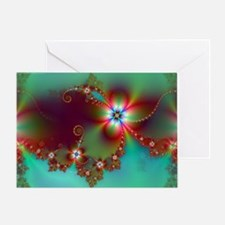 Fractal poppies floral3 Greeting Card