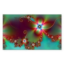Fractal poppies floral3 Decal