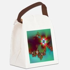 Fractal poppies floral3 Canvas Lunch Bag