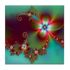 Fractal poppies floral3 Tile Coaster