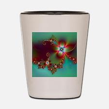 Fractal poppies floral3 Shot Glass
