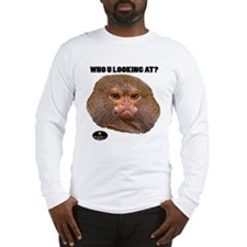 MONKEY - WHO U LOOKING AT? (White) Long Sleeve T-S