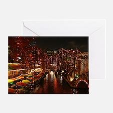 Christmas Lights on San Antonio Rive Greeting Card