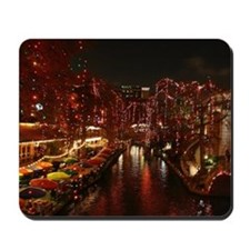 Christmas Lights on San Antonio Riverwal Mousepad