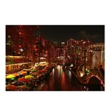 Christmas Lights on San A Postcards (Package of 8)