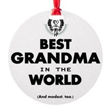 The Best in the World Best Grandma Ornament
