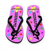 Girls gymnastics personalized Flip Flops