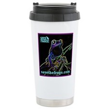 SAVE THE FROGS! Glowing Frog Travel Mug