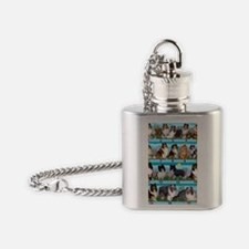 Sheltie Lovers Gifts Flask Necklace