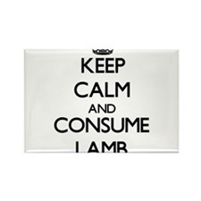 Keep calm and consume Lamb Magnets