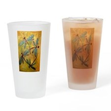 Dragonfly Haze Drinking Glass