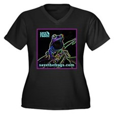 SAVE THE FROGS! Glowing Frog Plus Size T-Shirt
