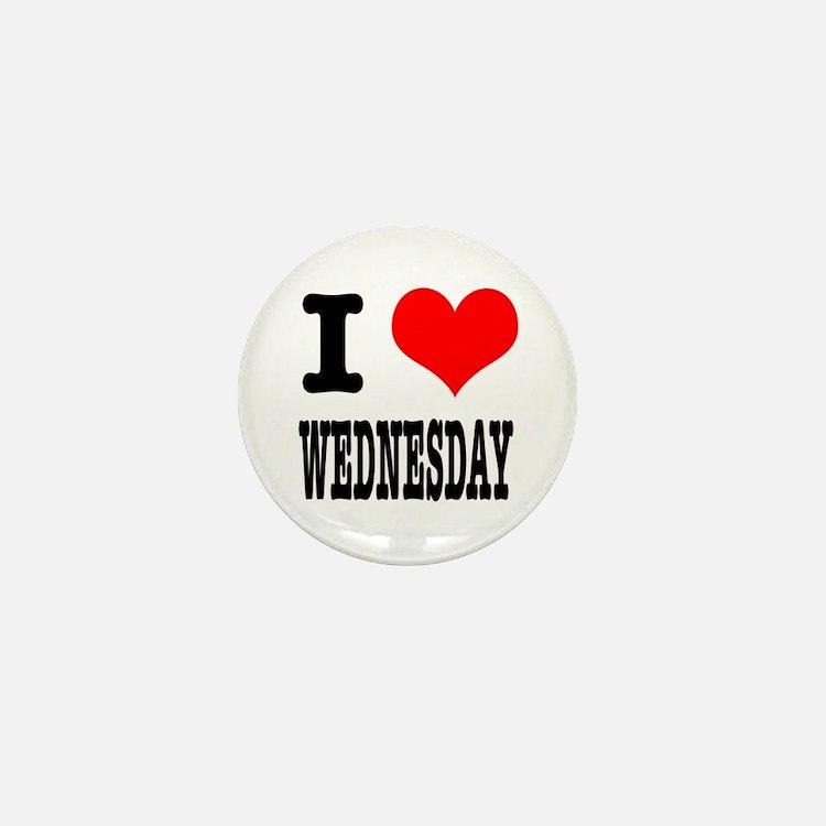I Heart (Love) Wednesday Mini Button