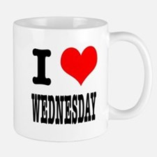 I Heart (Love) Wednesday Mug