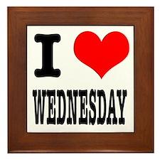 I Heart (Love) Wednesday Framed Tile