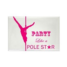 Party Like a Pole Star 2 Pink 2 Magnets