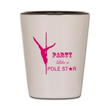 Party Like a Pole Star 2 Pink 2 Shot Glass